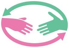Het embleem van de samenwerking stock illustratie