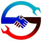 Het embleem van de samenwerking royalty-vrije illustratie