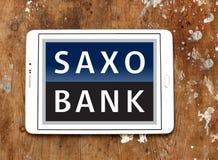 Het embleem van de Saxobank stock afbeeldingen