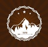 Het embleem van de skitoevlucht Royalty-vrije Stock Fotografie