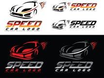 Het Embleem van de snelheidsauto Stock Foto