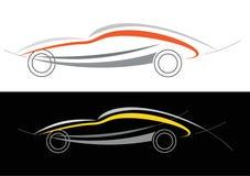 Het embleem van de sportwagen Stock Foto's