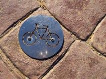 Het embleem van de de steegweg van fietsfietsen Stock Afbeeldingen