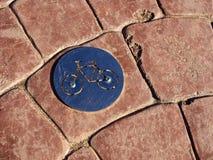 Het embleem van de de steegweg van fietsfietsen Stock Foto