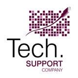 Het Embleem van de Steun van technologie Royalty-vrije Stock Afbeelding