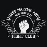 Het embleem van de strijdclub New York, MMA, Gemengde Vechtsporten Royalty-vrije Stock Foto's