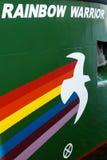Het embleem van de Strijder van de regenboog op Strijder III van de Regenboog Royalty-vrije Stock Foto's