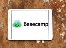 Het embleem van het de toepassingsbedrijf van het Basecampweb Stock Afbeelding