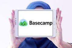 Het embleem van het de toepassingsbedrijf van het Basecampweb Stock Fotografie