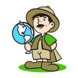 Het embleem van de toeristengids stock illustratie