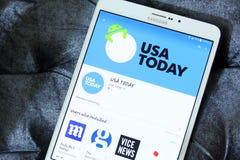 Het embleem van de V.S. vandaag app royalty-vrije stock foto