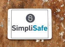 Het embleem van het de veiligheidsbedrijf van het SimpliSafehuis Royalty-vrije Stock Afbeelding