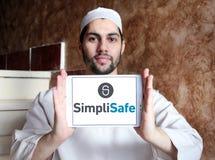 Het embleem van het de veiligheidsbedrijf van het SimpliSafehuis Stock Fotografie