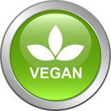 Het embleem van de de verbindingszegel van het veganistvoedsel royalty-vrije illustratie