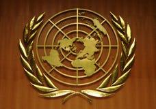 Het Embleem van de Verenigde Naties Stock Afbeeldingen