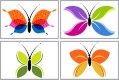 Het embleem van de vlinder Royalty-vrije Stock Foto