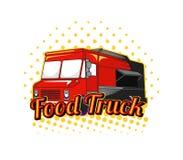 Het embleem van de voedselvrachtwagen Stock Afbeelding