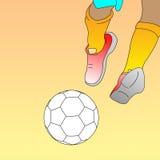 Het embleem van de voetbal Stock Foto's