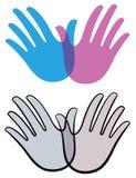 Het Embleem van de vogelhand vector illustratie