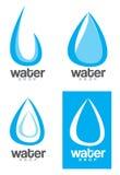 Het embleem van de waterdaling Royalty-vrije Stock Afbeeldingen
