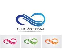 Het embleem van de waterdaling en van het symbolenmalplaatje pictogrammen app royalty-vrije illustratie