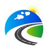 Het embleem van de weg vector illustratie