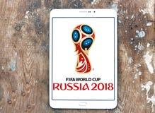 Het embleem van de Wereldbekerrusland 2018 van FIFA Royalty-vrije Stock Foto's