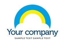 Het embleem van de wolkenzon Royalty-vrije Stock Foto