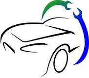 Het embleem van de workshop Stock Afbeelding