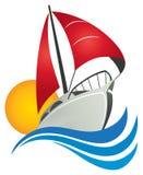Het Embleem van de zeilboot Royalty-vrije Stock Afbeeldingen