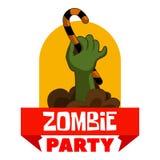 Het embleem van de zombiepartij, beeldverhaalstijl royalty-vrije illustratie