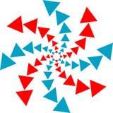 Het embleem van driehoeken Stock Afbeelding