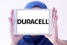 Het embleem van Duracell Battery Company Stock Foto