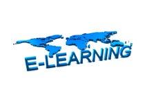 Het embleem van Elearning voor onderwijs Stock Afbeeldingen