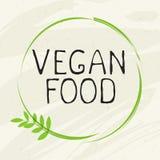Het embleem van het het etiketpictogram van het veganistvoedsel Natuurlijk product 100 bio gezond organisch etiket en hoog - de k vector illustratie