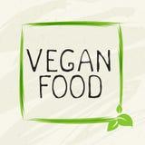 Het embleem van het het etiketpictogram van het veganistvoedsel Natuurlijk product 100 bio gezond organisch etiket en hoog - de k stock illustratie