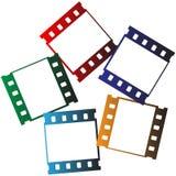 Het embleem van filmstroken royalty-vrije illustratie