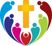 Het embleem van godsdienstmensen Stock Foto's