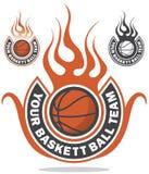 Het embleem van het basketbal royalty-vrije stock fotografie