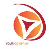 Het embleem van het bedrijf Stock Afbeelding