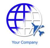 Het embleem van het bedrijf - de Wereld van de Reis Royalty-vrije Stock Foto's