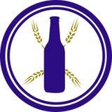 Het Embleem van het bier en van de Tarwe stock illustratie