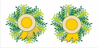 Het embleem van het bladerenembleem Stock Foto's