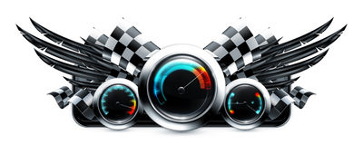 Het embleem van het dashboard Stock Foto