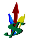 Het embleem van het dollarteken Royalty-vrije Stock Afbeeldingen