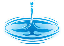 Het Embleem van het Druppeltje van het water Royalty-vrije Stock Afbeeldingen