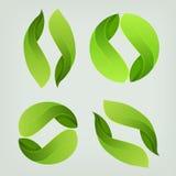 Het embleem van het ecologiepictogram Royalty-vrije Stock Afbeeldingen