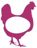 Het embleem van het gevogelte vector illustratie