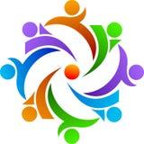 Het embleem van het groepswerk Stock Afbeeldingen