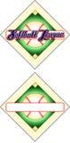 Het embleem van het honkbal vector illustratie